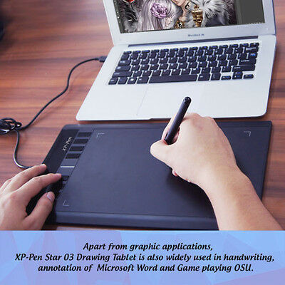 "XP-Pen Star03 10x6"" Art Graphic Drawing Tablet Painting Board Digital Pad w/ Art"