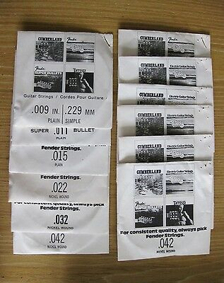 2 Sets NEW 1960s FENDER GUITAR STRINGS original CBS rare & collectable old stock