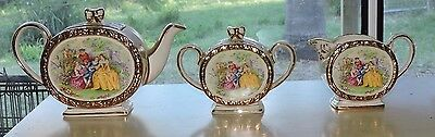 Sadler Vintage China Courting Couples Tea Set  England c1950's