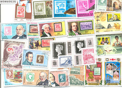 Stamps on Stamps 200 all different collection-medium-large-colourful stamps