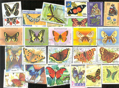Butterflies and Moths 300 all different mainly large-medium size