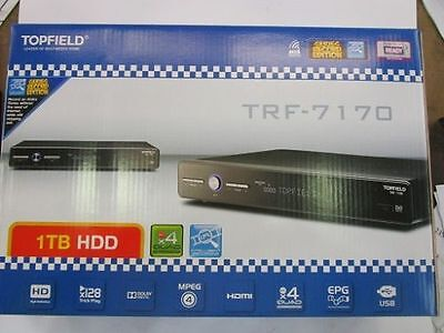 Topfield PVR DVR TRF-7170 Brand New in box 1 TB HDD with 2 free HDMI Cables