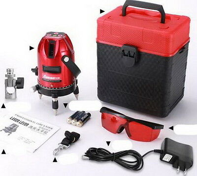 Professional Automatic Self Leveling 5 Line 6 Point 4V1H Laser Level Measure NEW