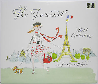 2017 Legacy Wall Calendar The Tourist by Anne Keenan Higgins Fits Timber Frame