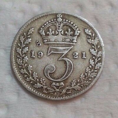 1921 Silver Uk Old No 3 Coin Uk Old Silver Coin No 3 Combine 3112