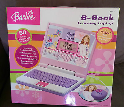 Barbie B-Book Learning Laptop With Mouse Computer Games