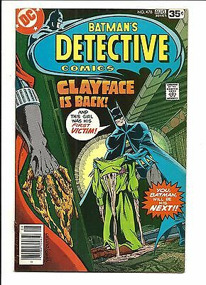 Detective Comics # 478 (Clayface Is Back, Aug 1978), Vf-