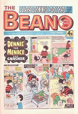 BEANO - 19th MARCH 1977 (17 - 23 March) - RARE 40th BIRTHDAY GIFT !! VG+..beezer