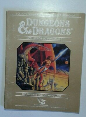 dm guide to immortals DMG 1E basic D&D RPG roleplaying book tsr 1st edition
