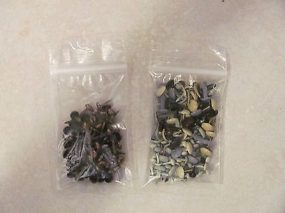 """Metal Brads 1/8"""" 1/4"""" & 3/8"""" Copper & Painted 175+ Pieces  NEW"""
