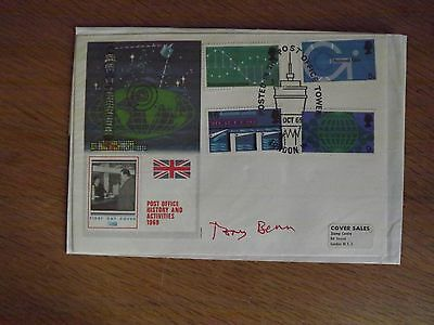 1966 Post Office Tower First Day Cover Signed Tony Benn Autograph