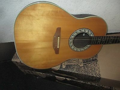 80's OVATION ELECTRO ACOUSTIC CUSTOM BALLADEER 1612 - made in USA
