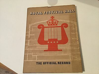 1951  royal festival hall official record  Book