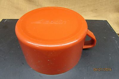 vintage aladdin plastic cup for thermos burnt orange replacement cup