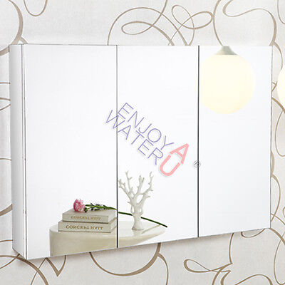 1200X 720 X 150MM Pencil Edge Mirror Cabinet 3 Soft Close Doors Shaving Medicine
