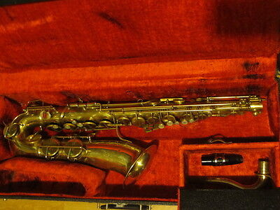 Vintage  Artcraft Tenor Saxophone   Made In Italy  Includes Martin Hard Case