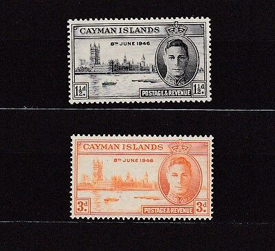 Cayman Islands #112-113 Mlh 1946 Peace Issue Common Design