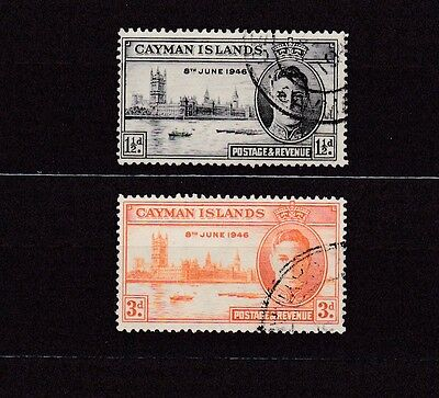 Cayman Islands #112-113 Used 1946 Peace Issue Common Design
