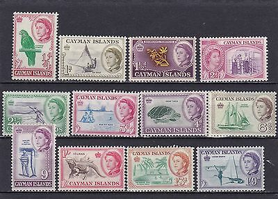CAYMAN ISLANDS #153-164 MNH 1/4 to 1sh9p DEFINITIVE ISSUE #156 &161 HINGED