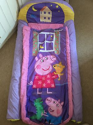 Peppa Pig My First Ready Bed Toddler Air Bed Sleeping Bag Storage Bag and Pump