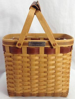 Longaberger 2003 Rare VIP Sales Basket, Warm Brown w/ Protector, Never Used