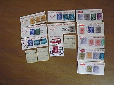 COLLECTION OF ROYAL MAIL POSTBUS TICKETS 1970s