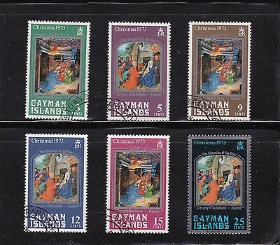 Cayman Islands #314-319 Used Nativity Scenes From Book Of Hours