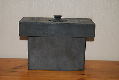 """Vintage ILFORD Developing Tank with Film Holder 7.5"""" x 4"""" x 6"""" with Lid"""