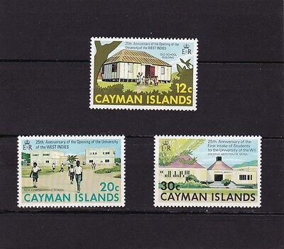CAYMAN ISLANDS #328-330 MNH 25th ANNIV. UNIVERSITY COLLEGE OF THE WEST INDIES