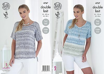 KINGCOLE 4767 Ladies DK KNITTING PATTERN 32-50IN -not the finished garments