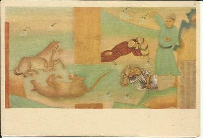China Tang Dynasty (618-907) Rest on the Journey Vintage Post Card (Cave No. 85)