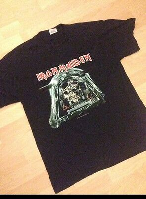 Iron Maiden Vintage Rare L T Shirt Give Me Ed Tour 2003 Aces High Band Tee Fog