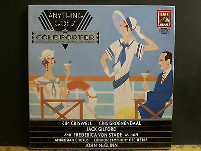 ANYTHING GOES  Cole Porter 1934 version LP  Box with book  DMM    NEAR-MINT!