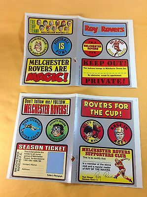 ROY OF THE ROVERS : Free Gift Stickers