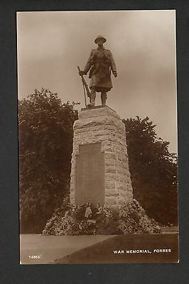 Forres - War Memorial - real photographic postcard