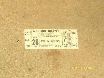 JACKSONS Michael Jackson concert ticket 4/28/79 Niles, Illinois (NM shape)