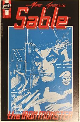 """First Comics Mike Grell's Sable #1 """"The Iron Monster"""""""