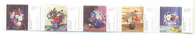 Australia-National Gallery - Art- Flowers self-adhesive (mnh) 2011)3574a