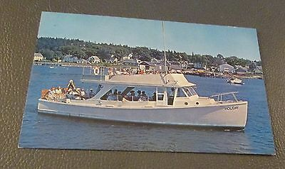 SMALL BOATS/SHIPS- Postcard --THE HOLIDAY---BOOTHBAY HARBOR, MAINE