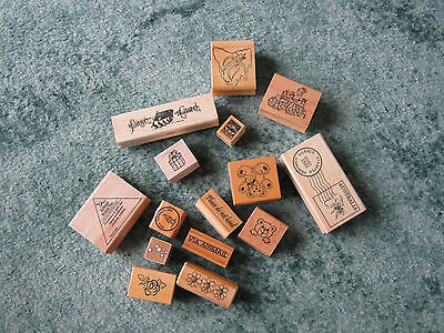 Mixed lot of Rubber Stamps with Craft Items (See pictures)
