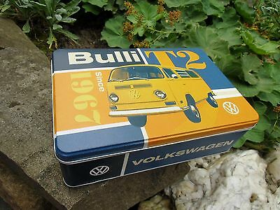 VW VOLKSWAGEN Bulli Bus Tin Storage /Lunch Box  - Made in Germany