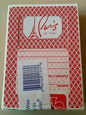 One Pack Deck Paris Casino Las Vegas Playing Cards Used And Resealed