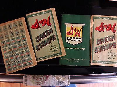 4 Books Vintage Green Plaid Stamps All Full