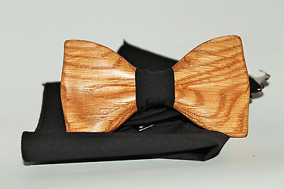 Wooden men's bow tie Wood bow tie for men. Handmade clip-on bow tie Gift for him
