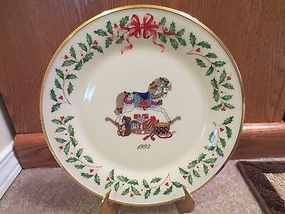 Lenox Christmas 1992 ANNUAL HOLIDAY COLLECTORS PLATE ROCKING HORSE 2nd in Series