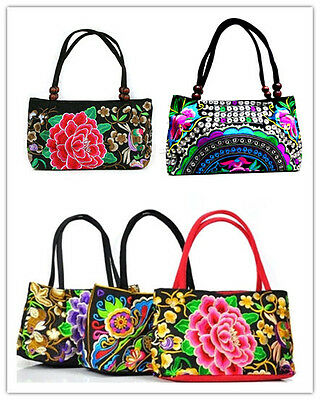 New Design 2pcs Chinese Ethnic Vintage Embroidered Purses Handbags Shoulder Bags