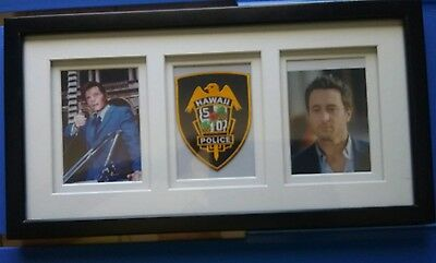 Hawaii 5 0 McGarrett Father /Son Picture and Dept. Patch