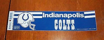 sticker  / decal indianapolis colts football logo  12x3in.