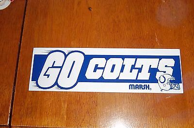 sticker  / decal indianapolis colts football logo  11x3in.
