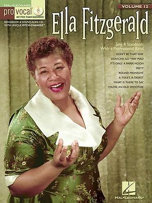 Pro-Vocal Womens Edition Ella Fitzgerald Sing VOICE Audition Music Book & CD